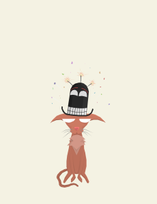 Cat in a Cheerful Hat